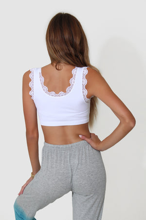LACE TRIM CROP TOP
