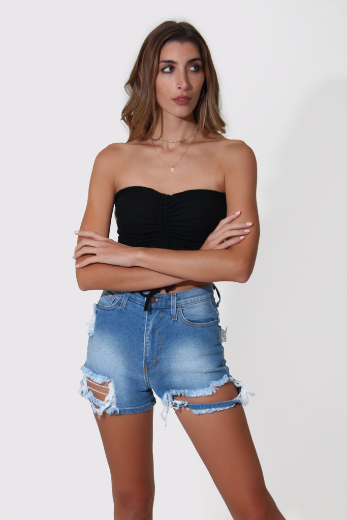 RUCHED TUBE TOP