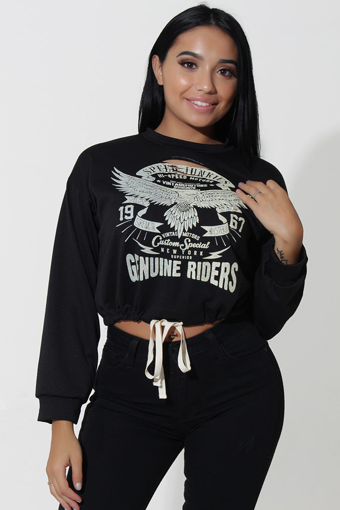 EAGLE RIDER CROP TOP