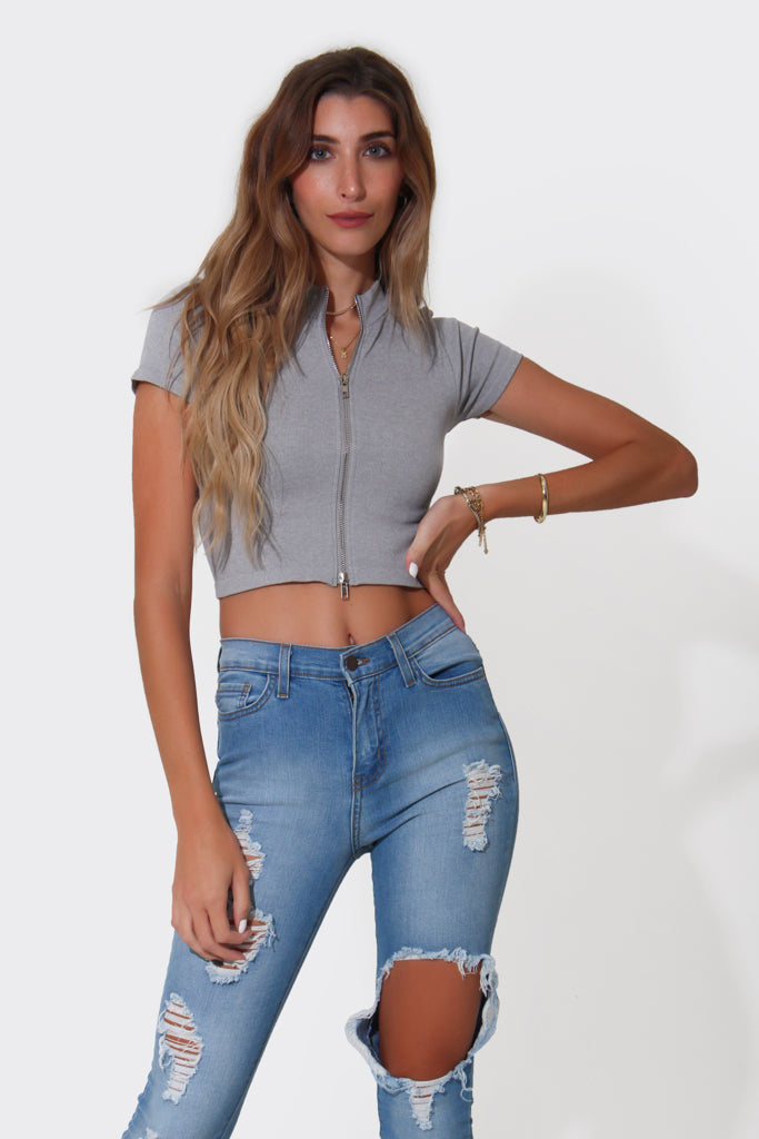 TWO WAY ZIP TOP