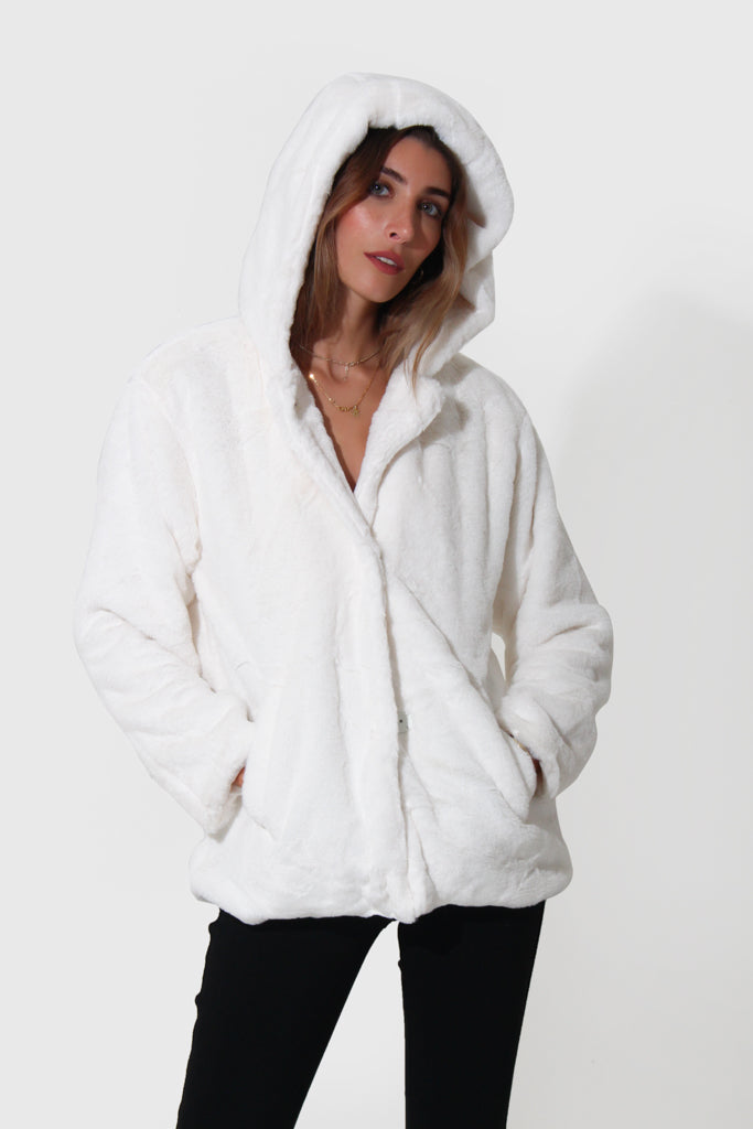 GABI FAUX FUR COAT