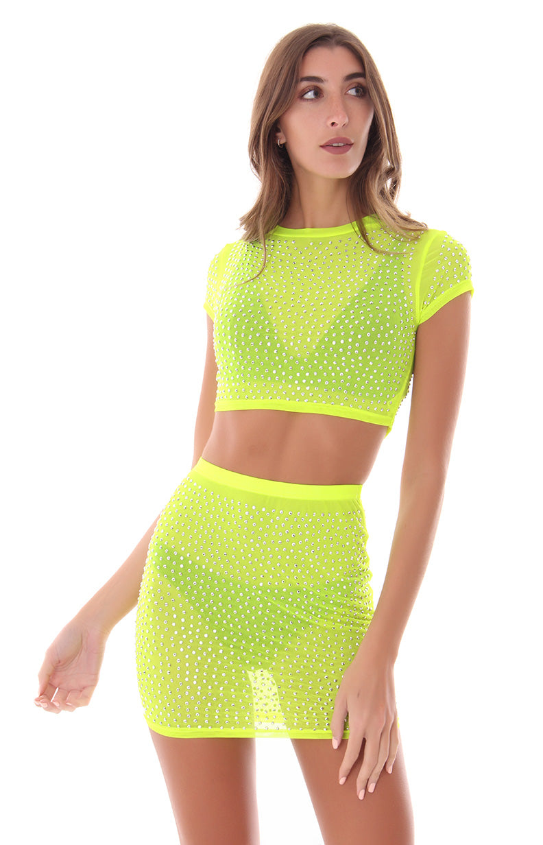 LIVE  IN THE LIMELIGHT CROP TOP