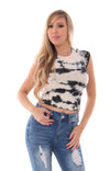 CARE FREE LIVING CROP TOP