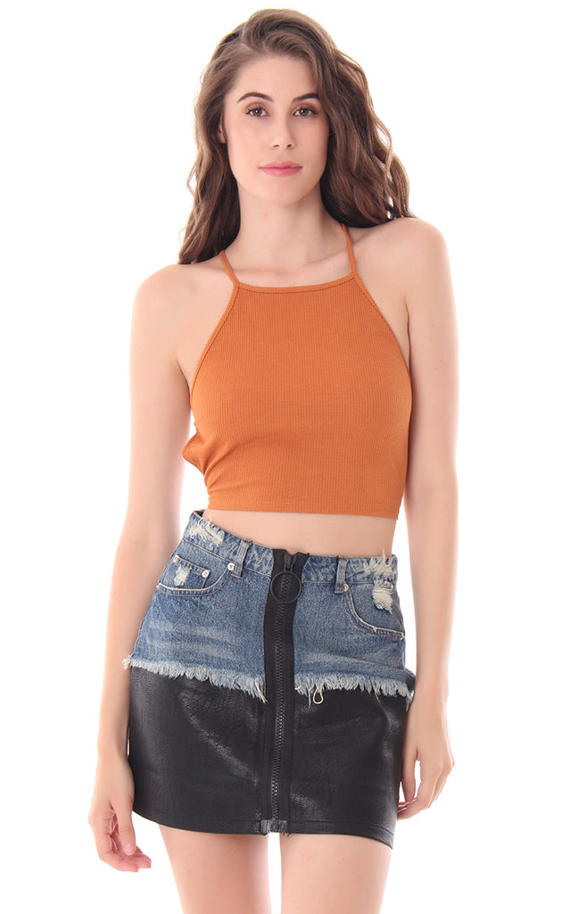 PULL UP CROP TOP
