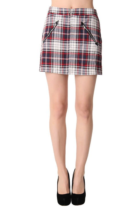 PAID IN PLAID SKIRT