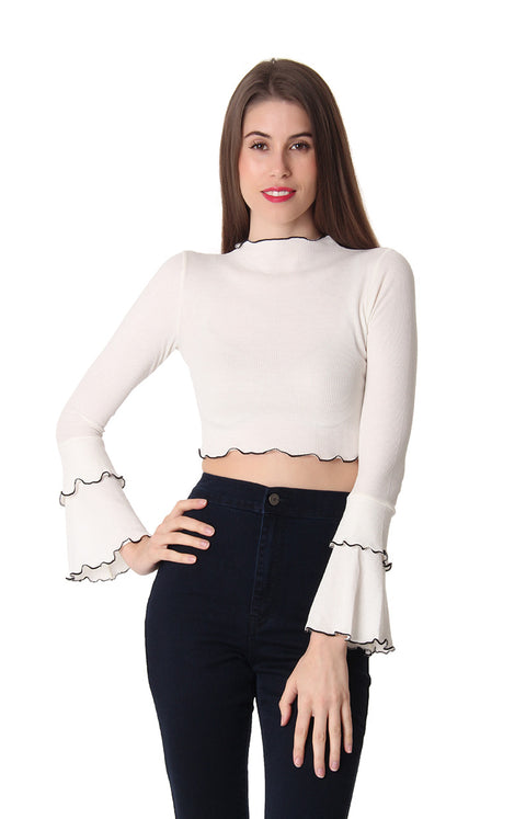 FRILLING GOOD CROP TOP