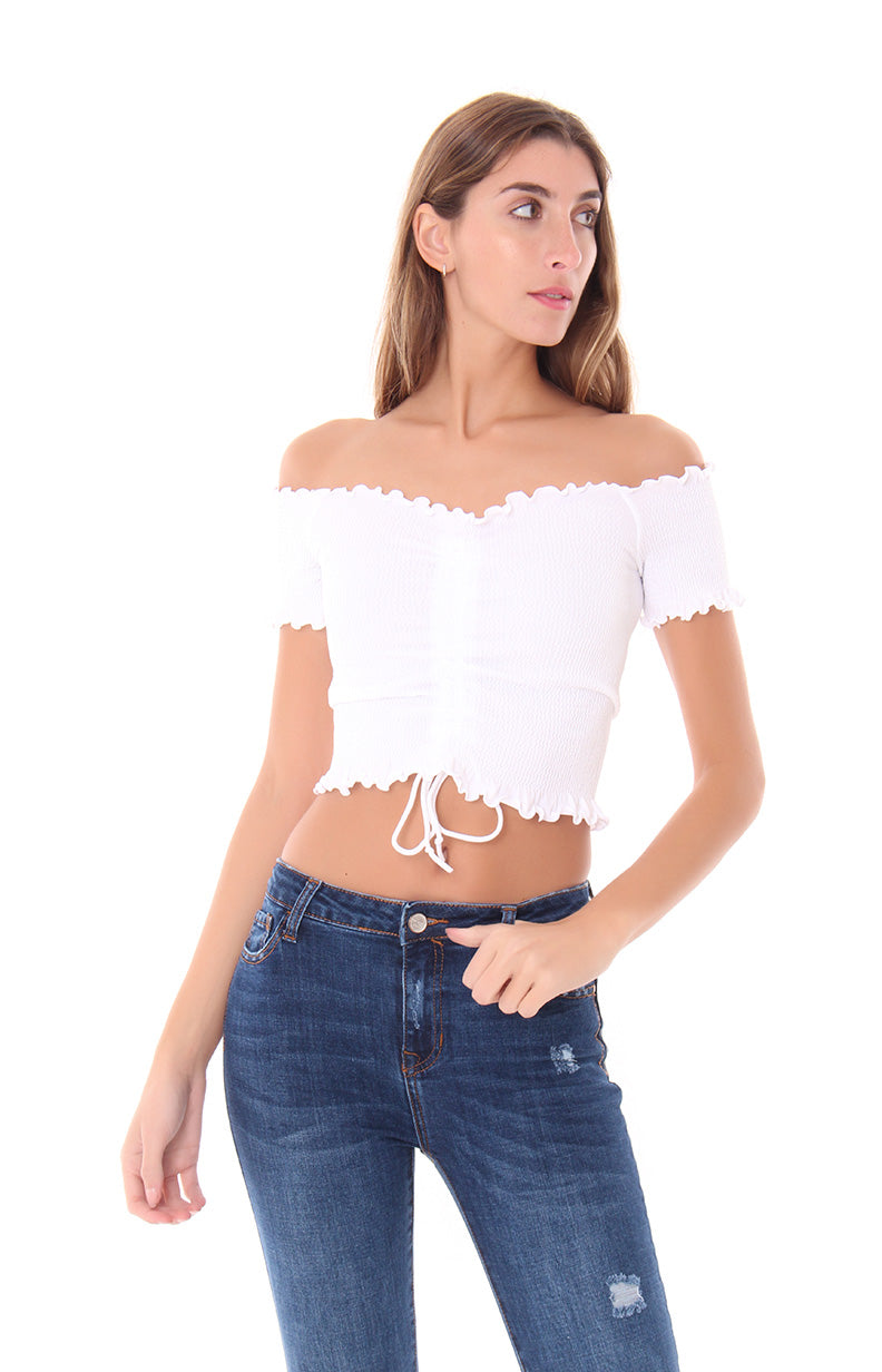 ROCK ON CROP TOP