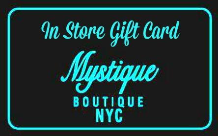IN STORE (ONLY) GIFT CARD