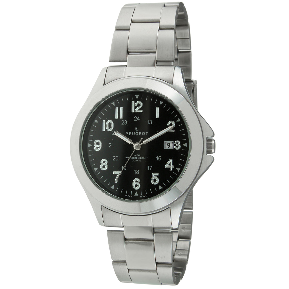 Silver Military Watch by Peugeot - Peugeot Watches