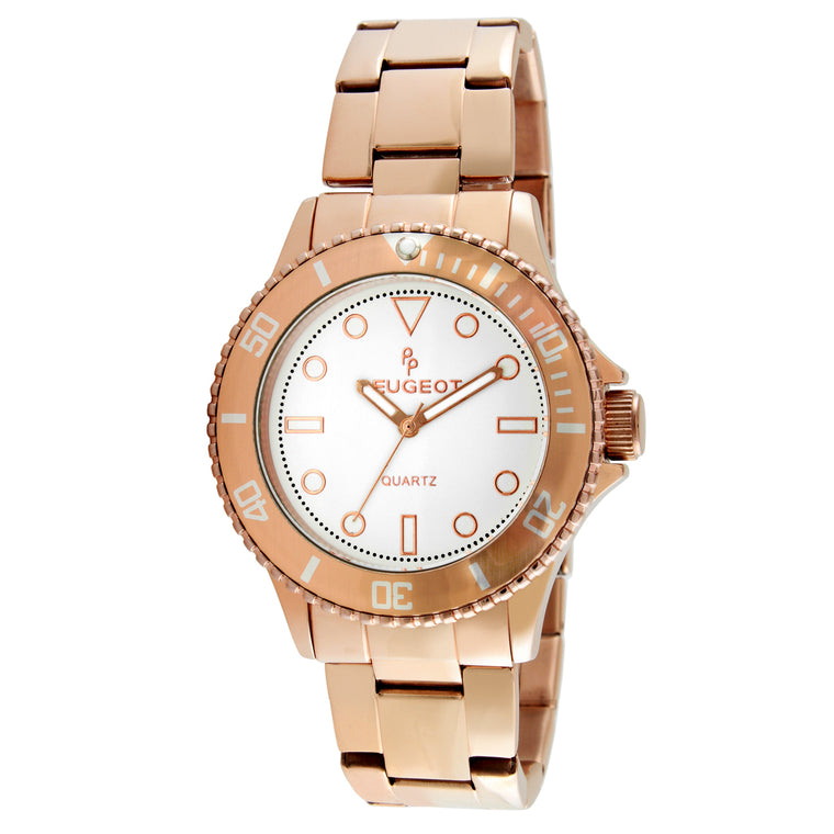 Women 36mm Sport Bezel Rose Gold Bracelet