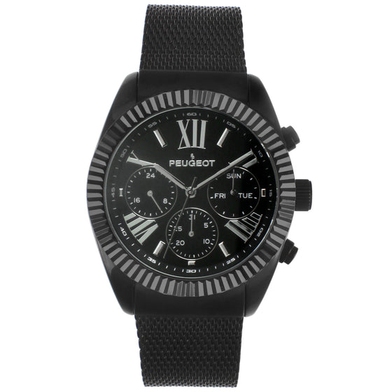 Men 42mm Multi-Function Steel Mesh