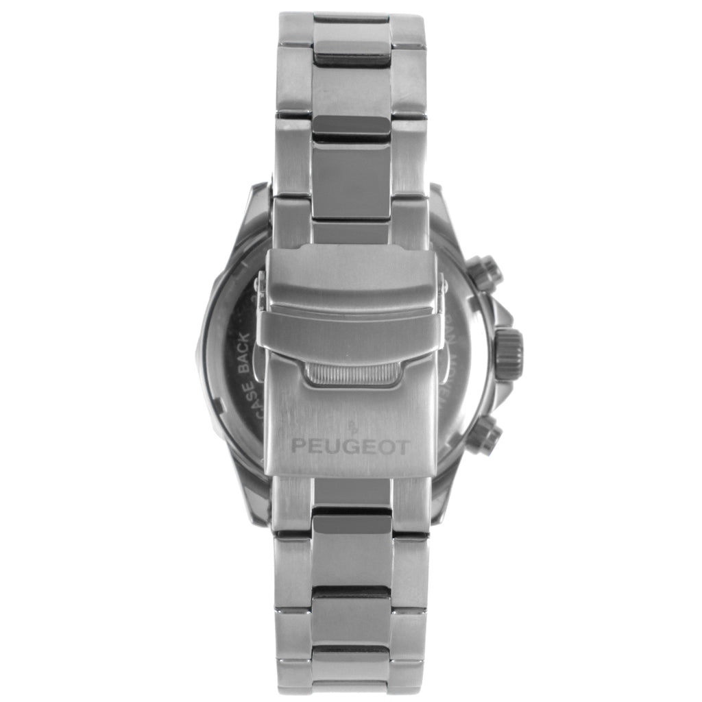 Peugeot Men's Stainless Steel Three Sub Dial Watch