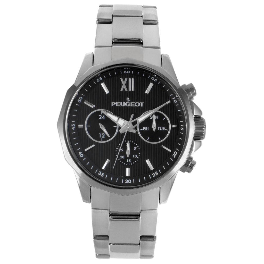 Men 46mm Multi-Function Stainless Steel Bracelet