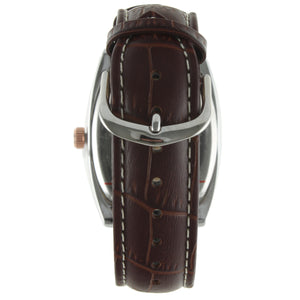 Tonneau 2027 Case Leather - Brown - Peugeot Watches