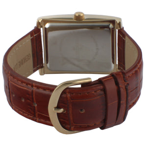 Men 43 x 30 mm Vintage Tank Leather Strap
