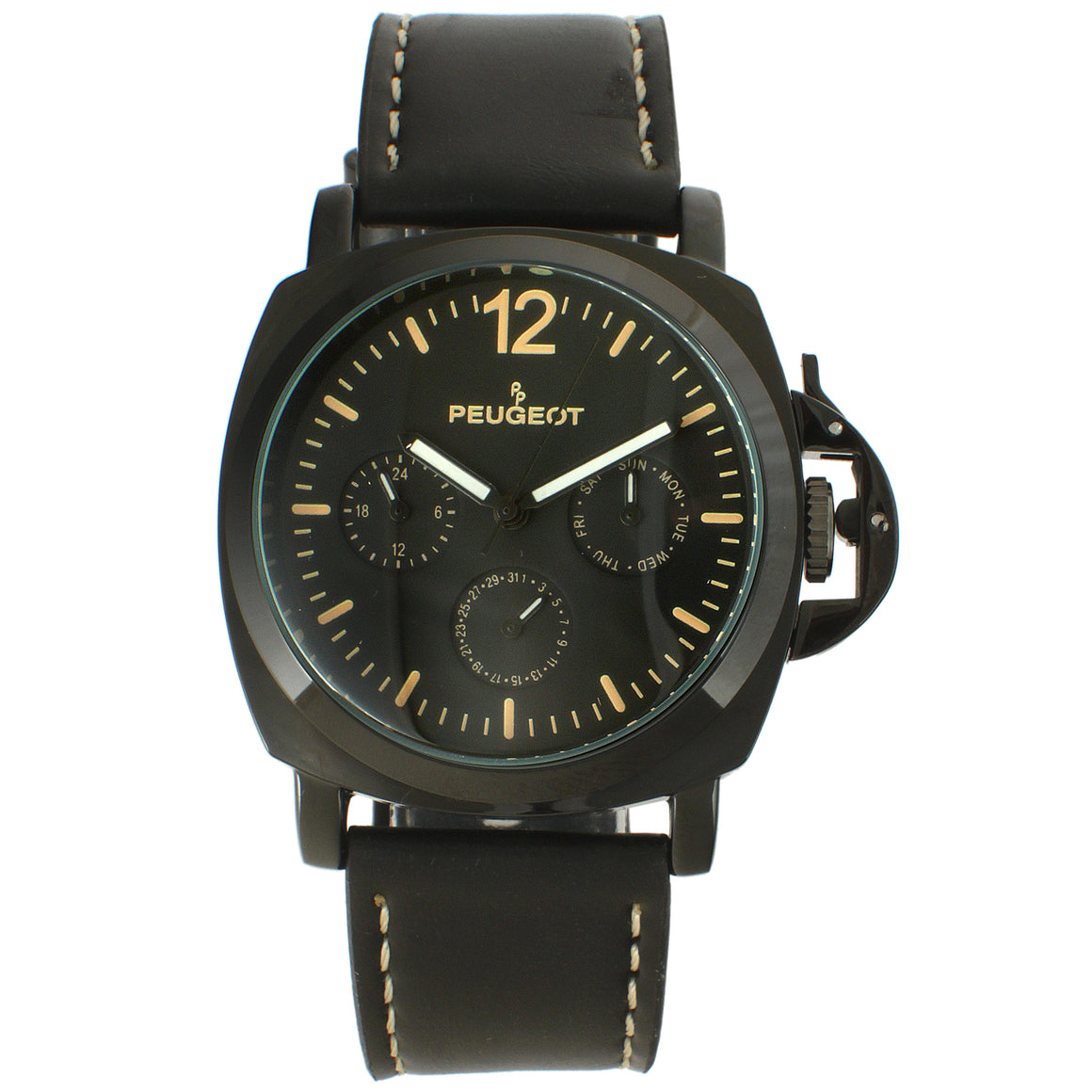 Men 50mm Multi-Function Leather Strap