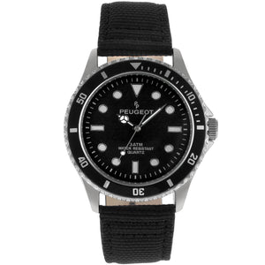 Men 42mm Sport Bezel Canvas Strap