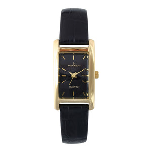 Women 34x20mm Contour Dress Leather Strap