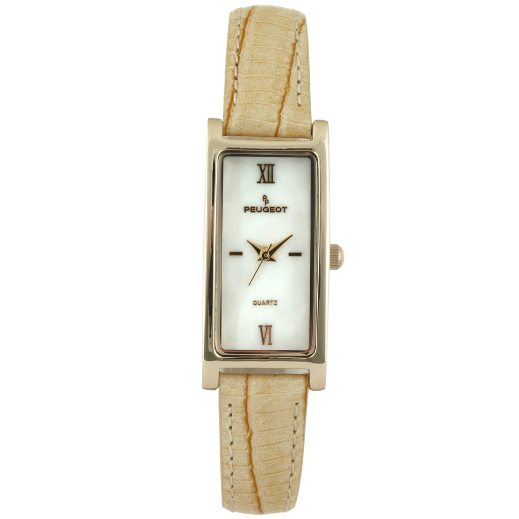Women 36x18mm Glossy Leather Strap