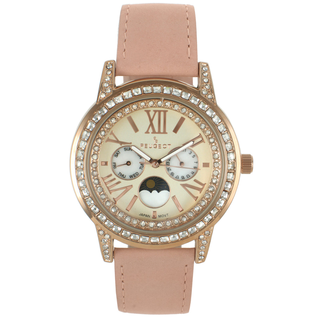 Women 40mm Multi-Function Suede Strap