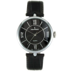 Women 38mm T-Bar  Dress Leather Strap