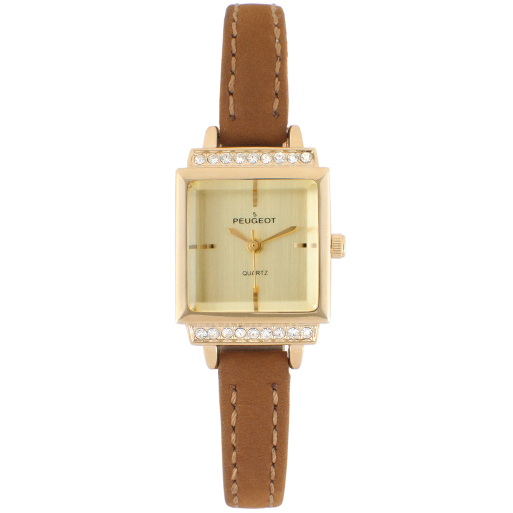Women 22mm Crystal Accent Suede Strap