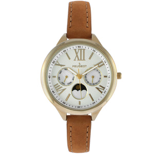 Women 38mm Multi Function Suede Leather Strap