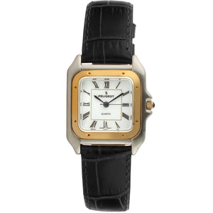Women 36mm Square Tank Leather Strap