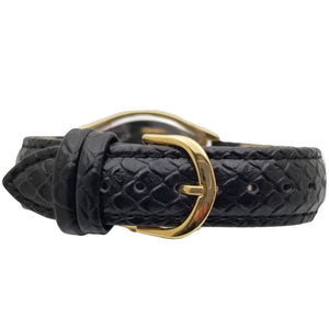 Women 36mm Barrel Shaped Tank Case Leather Strap
