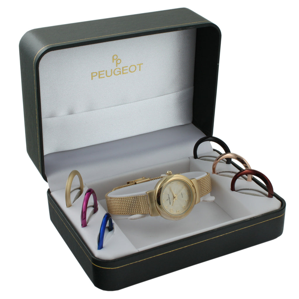 Mesh Bracelet Gift Set - Gold - Peugeot Watches