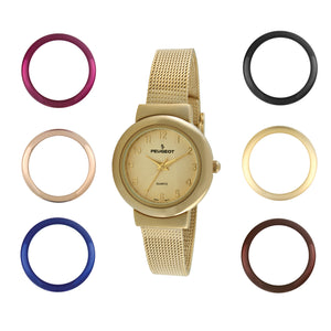 Women Watch  Gift Set with 7 Changeable Bezels