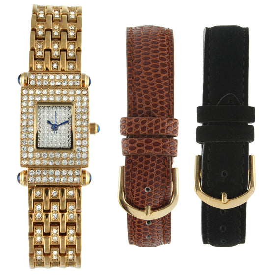 Crystal Bezel Gift Set - Gold - Peugeot Watches