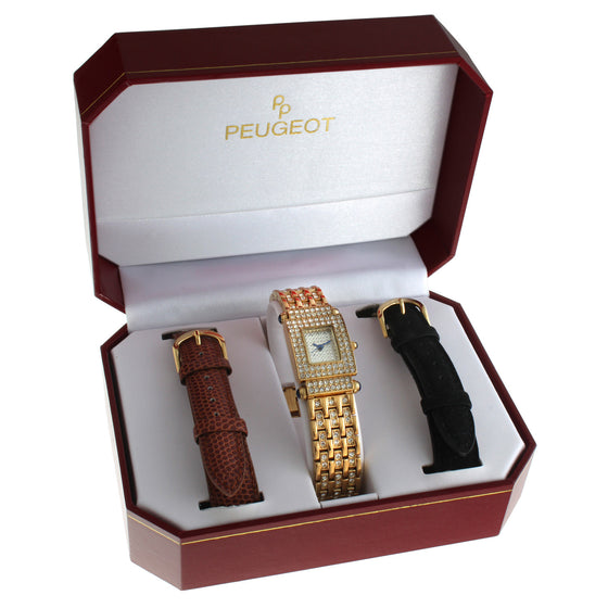 Crystal Bezel Gift Set - Gold