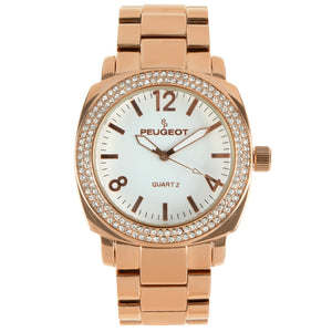 Women 40mm Boyfriend Crystal Bezel Bracelet