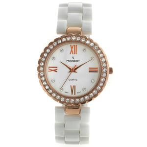 Women 34mm Crystal Bezel Genuine Ceramic