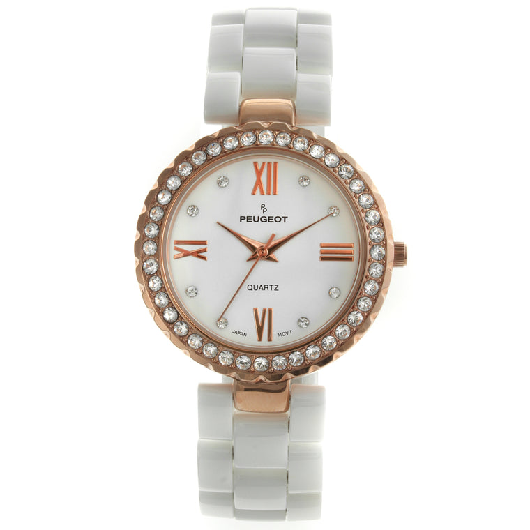 dbb9d94cc Women 34mm Crystal Bezel Genuine Ceramic