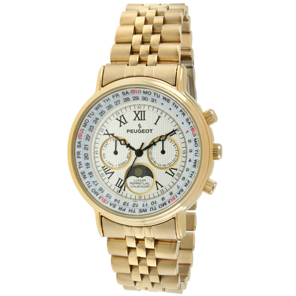 Multi-Function Bracelet Watch - Gold