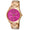 womans round face  multifuntion watch rose gold with pink face