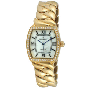 Women 34mm Barrel Shape Crystal Bezel Bracelet