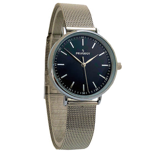 Women 30mm Sleek Stainless Steel Mesh