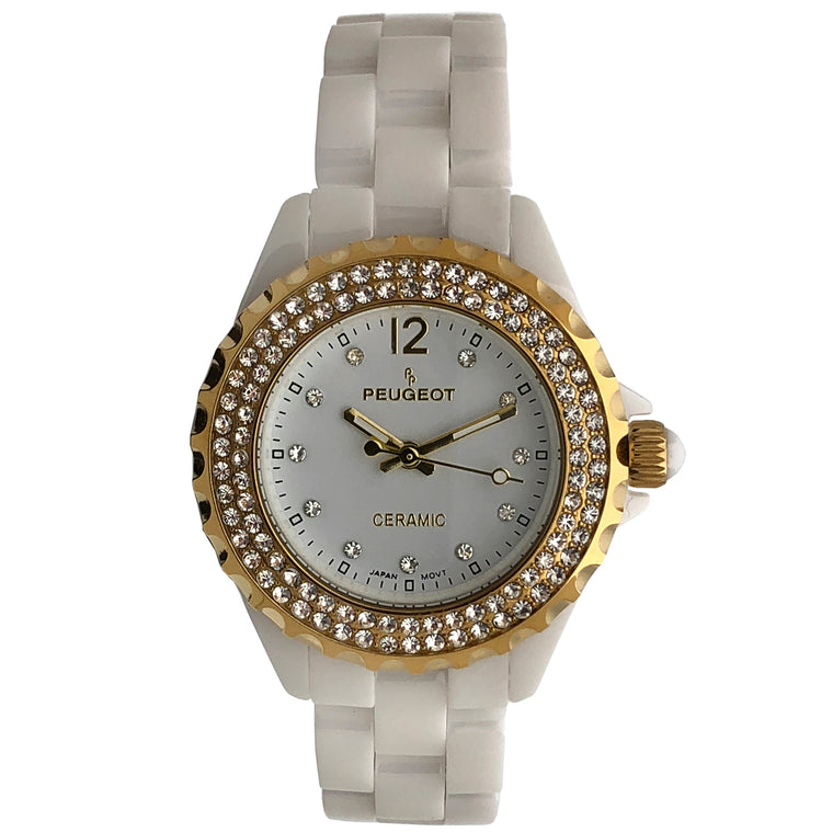 Women 36mm Genuine Ceramic Crystal Bezel