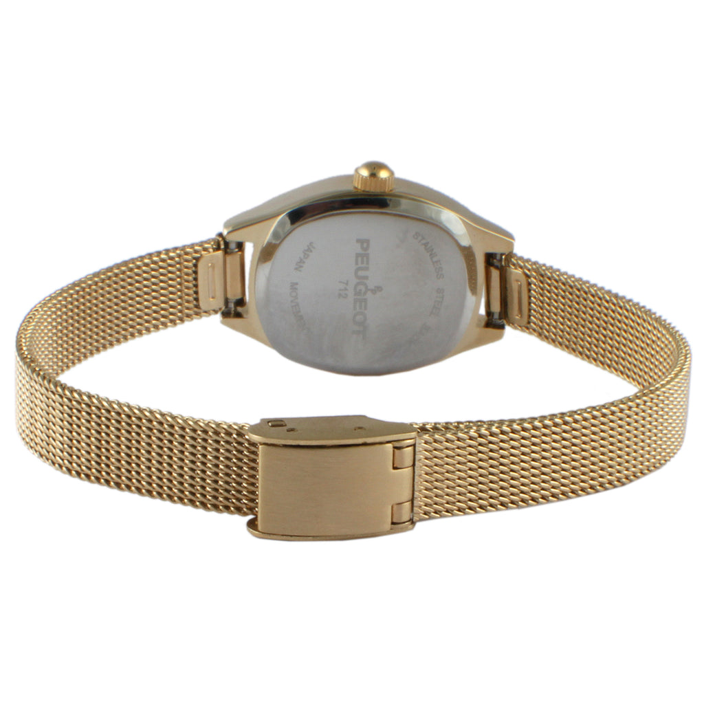 Moon Phase Mesh Watch - Gold/ Black - Peugeot Watches