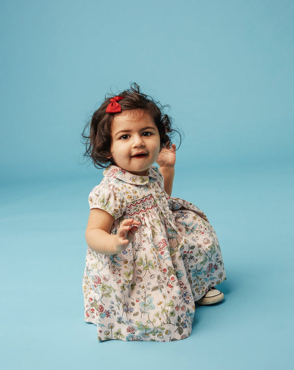baby in smocked dress