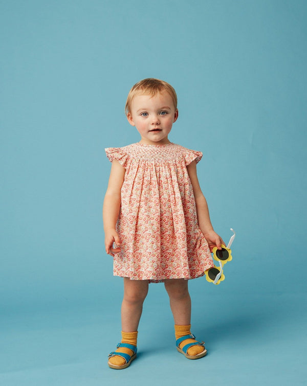 Baby frill neck dress floral