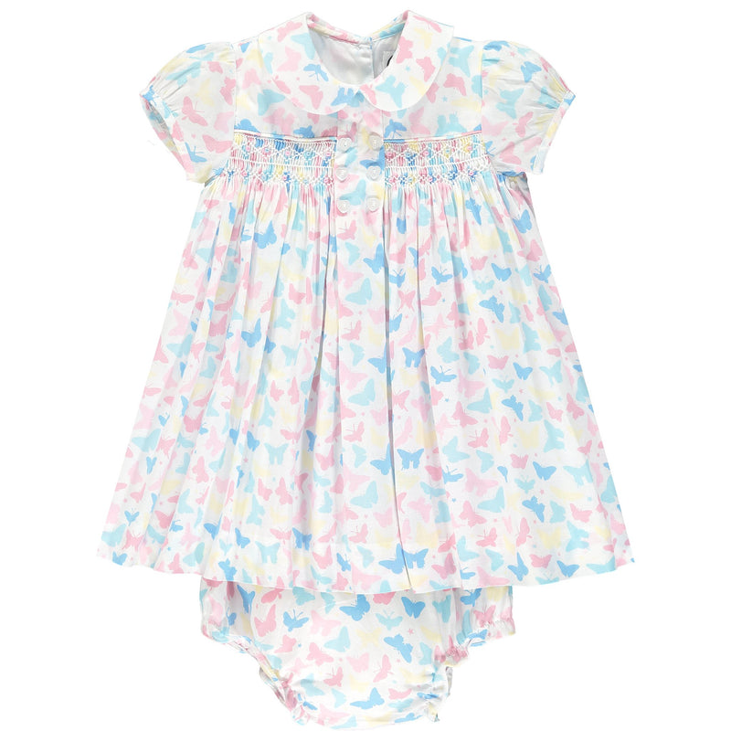 butterfly print baby dress