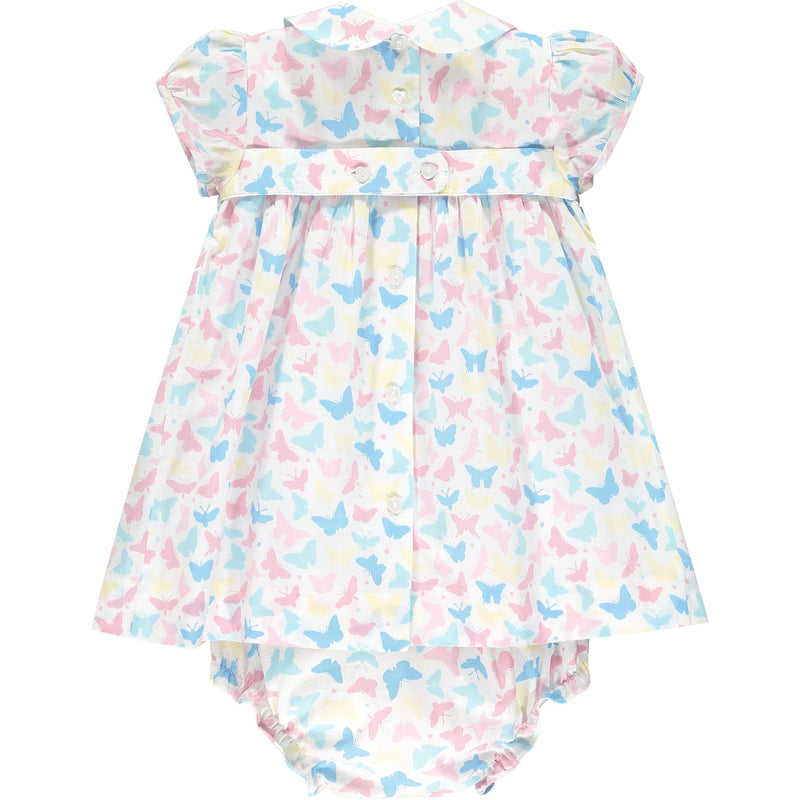 butterfly print baby dress back