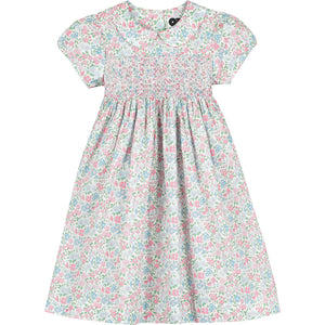 smocked girls dress front