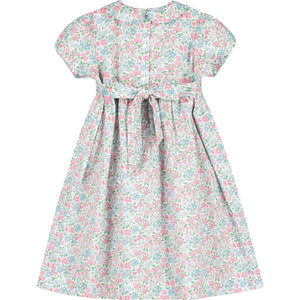 smocked girls dress back