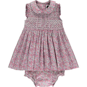 Liberty print baby dress front