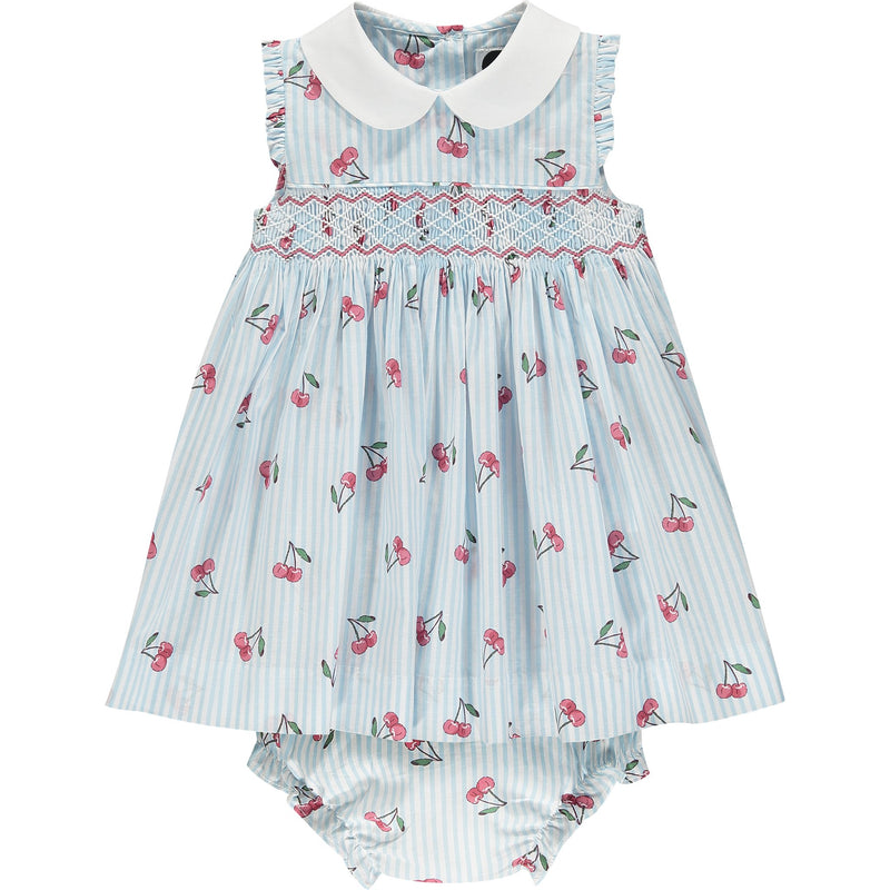 cherry print baby dress front